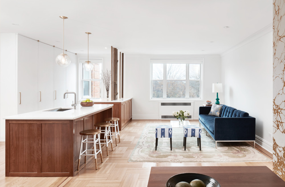 apartment combinations open living dining kitchen