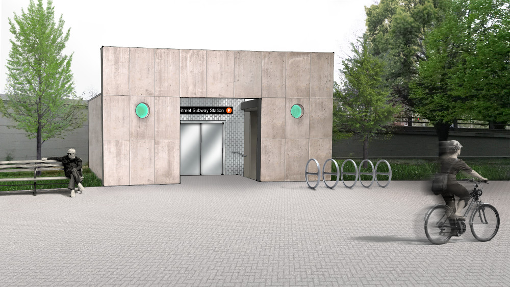 York Street subway - bridge station rendering