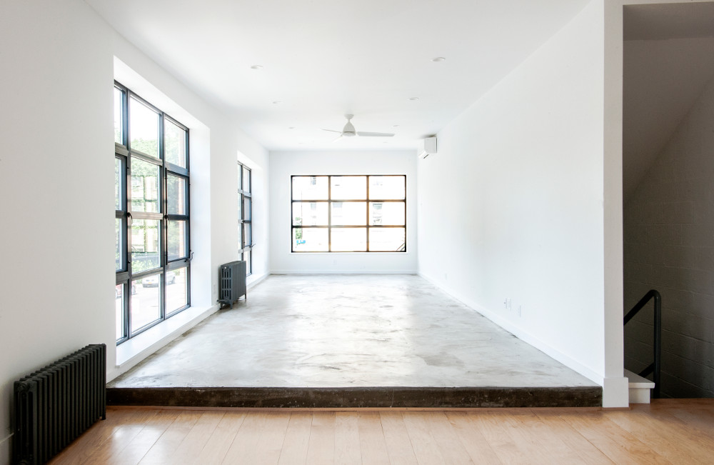 Brooklyn architect transformed the commercial polished concrete floors
