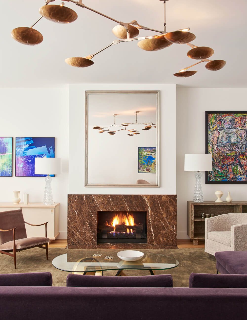 Brooklyn Heights Carriage House living room