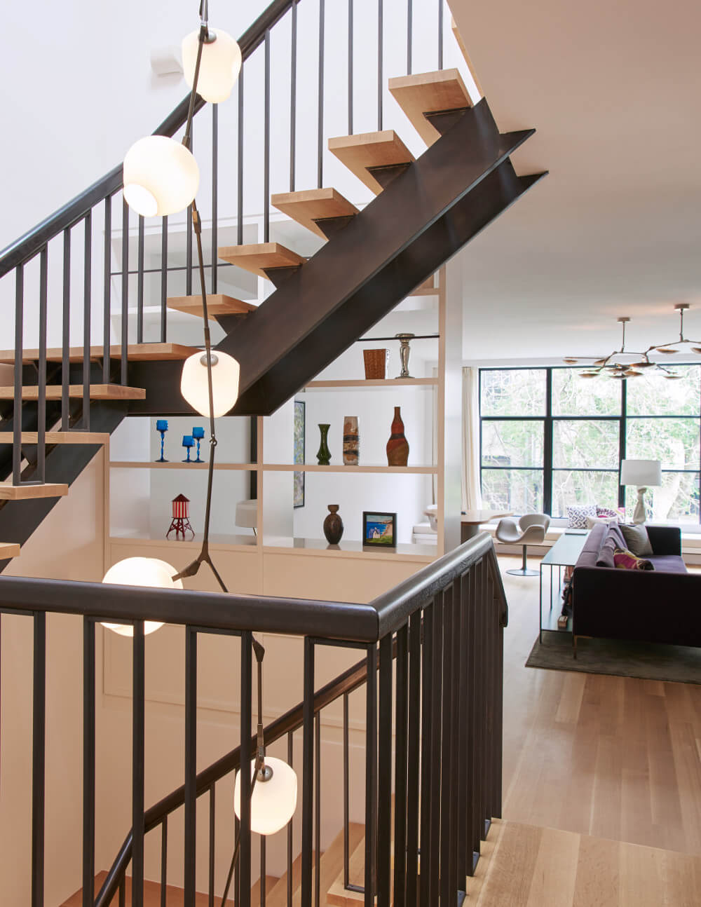 Brooklyn Heights Carriage House open riser stair