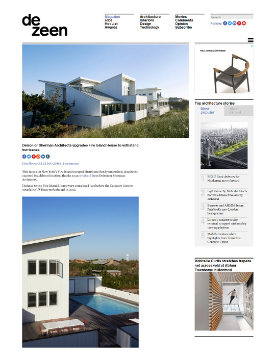 Delson or Sherman Architects upgrade Fire Island House to withstand hurricanes