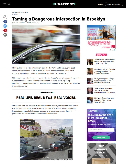 Huffpost: Taming a Dangerous Intersection in Brooklyn