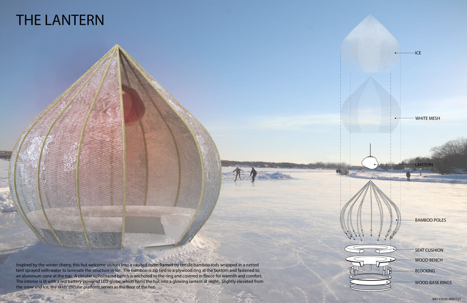 Movable hut welcomes visitors to The Forks in Winnipeg.