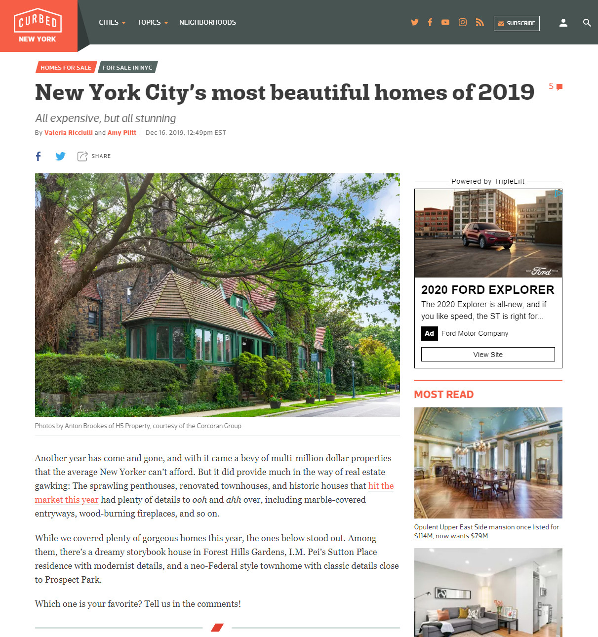 Curbed - New York City's Most Beautiful Homes