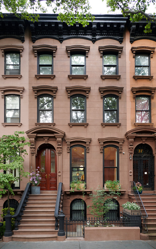 restored brownstone