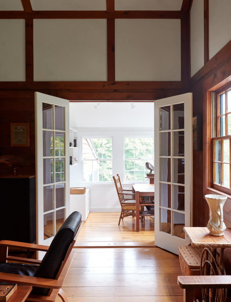A sunny corner becomes a home office.